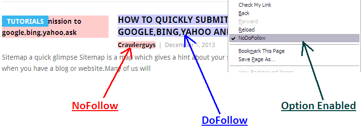 backlink dofolow and nofollow
