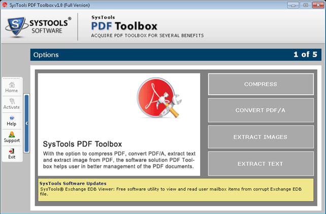 SysTools PDF Toolbox