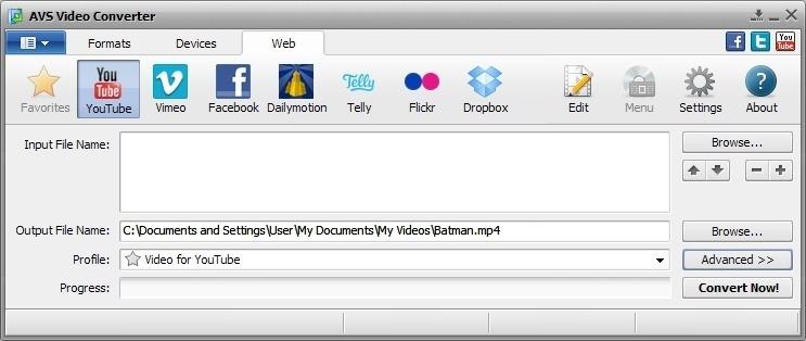 AVS Video Converter Convert for Web