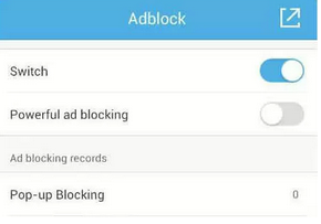 ad blocking feature of ucweb 9.9.2