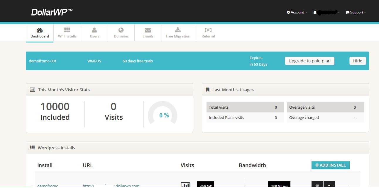 DollarWP hosting