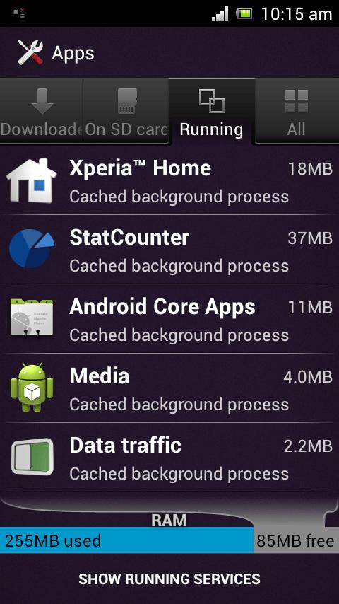 StatCounter Ram usage