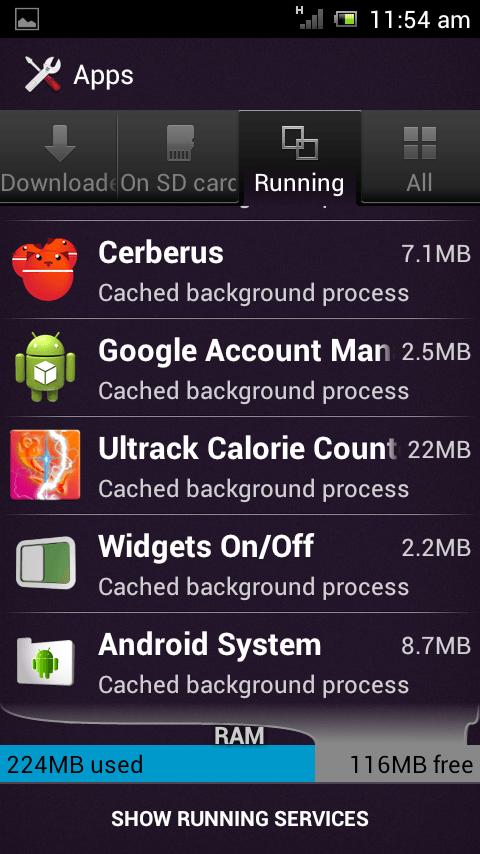 Ultrack resource usage