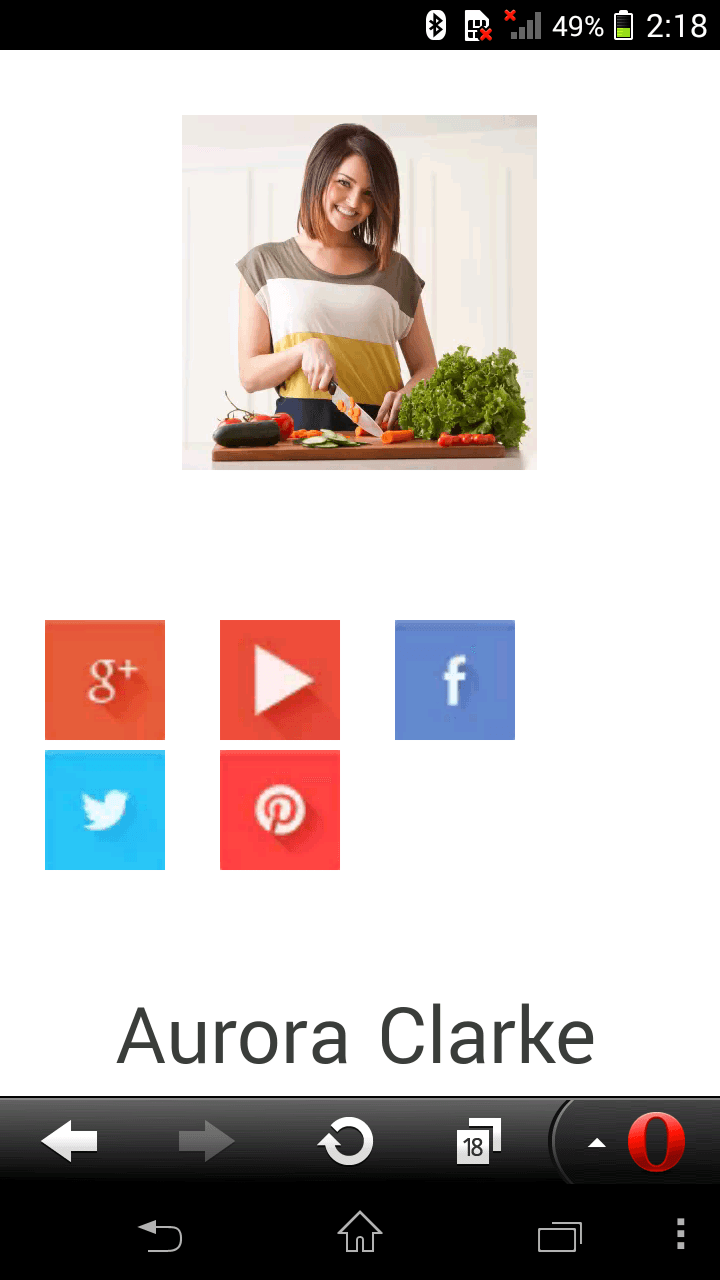 Responsive test of Tesla Cuisinier theme